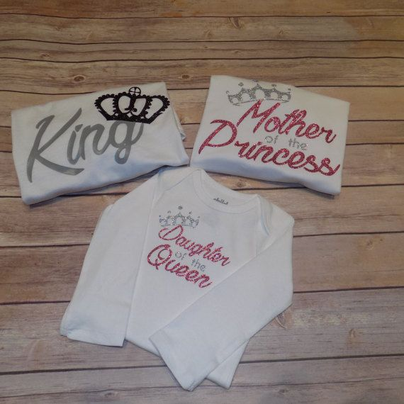 King Queen Princess Shirt by BlissGiftShop on Etsy