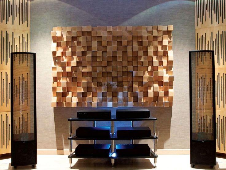 Panel drewniany - Natural Wood Panels - Dyfuzor Akustyczny Buk 32x32x10 cm