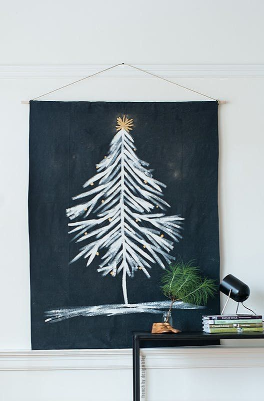 Space-Saving Alternatives to a Real Christmas Tree   there are so many options out there that won't leave you feeling cramped in your small space. And need I mention, they won't leave you with pine needles and sap all over your carpet. If you can forgo the scent of a real tree for something a little more apartment-friendly, these are the projects for you.