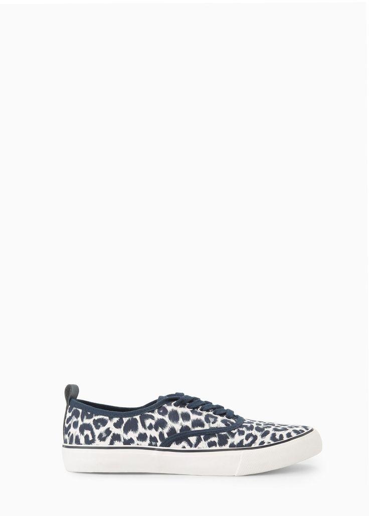 Sneakers met luipaardprint