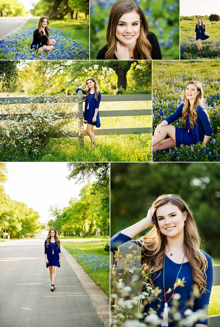 Austin High Senior Picture ideas, Bluebonnets, outdoor setting, natural poses, wildflowers, Kyle, TX, Heidi Knight Photography.jpg