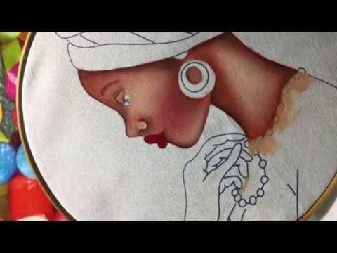 Pintura en tela manzana de nochebuena azul #3 con cony - YouTube