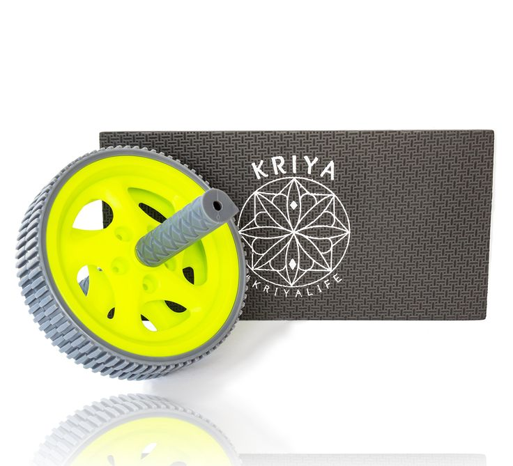 KRIYA Abdominal Wheel bundle w/ Foam Mat for your Knees. For a limited time: Purchase 2 or more items by FLEXIfitness, get 15% off! KRIYA-the ECO-FRIENDLY choice! We actually care, so we made the choice to opt out of using boxes on our last 5000 products produced and counting! So join us in making a difference and enjoy your quality KRIYA product without having to throw a pretty box in the trash. Super easy to use, and comfortable with the included foam mat. Instructional videos coming…