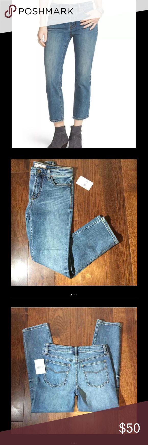 Free people blue jasper crop jeans 25 Free People Womens Crop Rock Denim Jasper Jeans 25 Retail price $78 Free People Jeans Ankle & Cropped