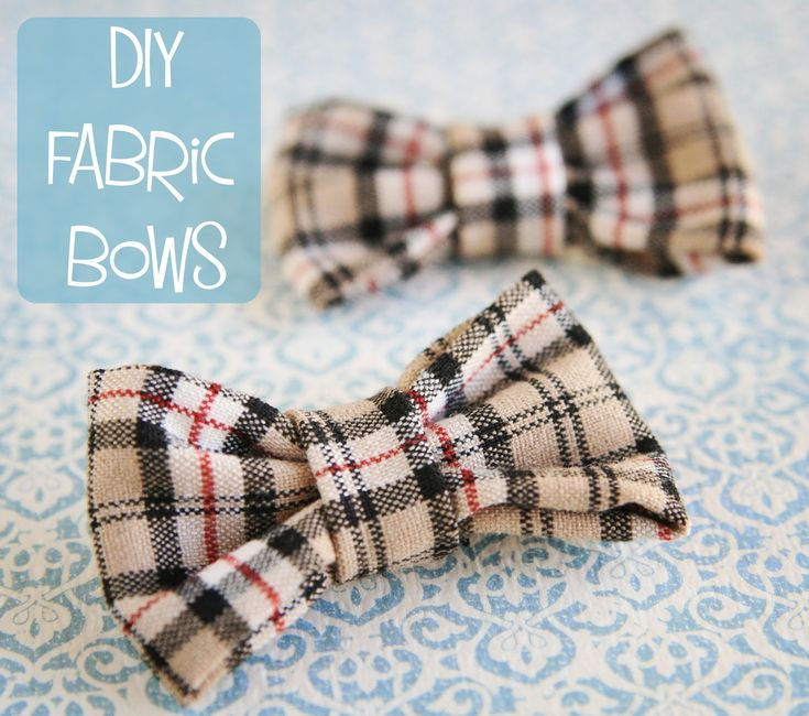 DIY Fabric Bow. #fabric #bow #DIY