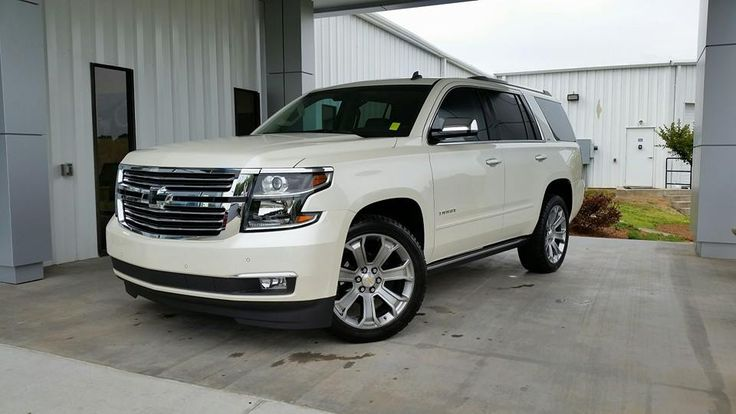 Beautiful new 2015 Chevy Tahoe!I just can't quit looking!!! I SO cannot wait to Have a new car!!!! No more man truck!!!!