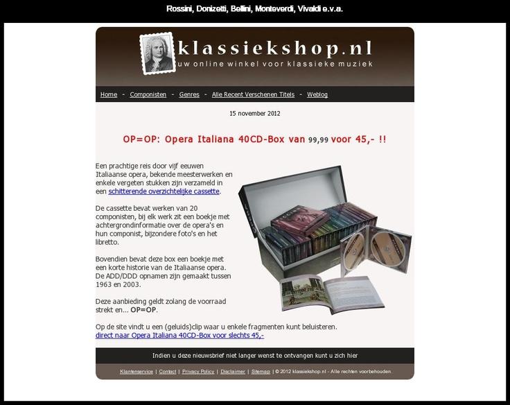 De nieuwsbrief van Klassiekshop, de online winkel voor klassieke muziek.