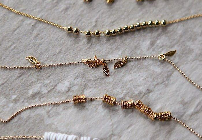DIY Jewelry: DIY: delicate gold bracelets…