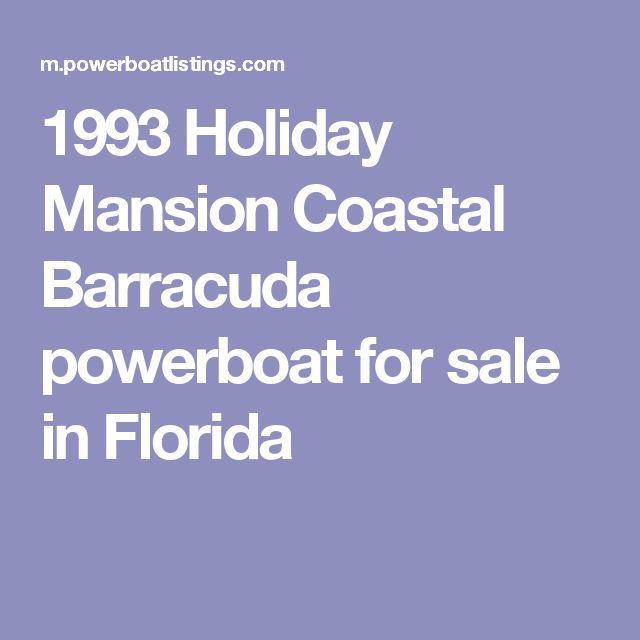 1993 Holiday Mansion Coastal Barracuda powerboat for sale in Florida