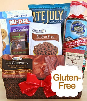 Looking for a gift for your #glutenfree and/or #celiac Mom for Mother's Day...Look no further: ProFlowers has the gift basket for you! Let mom enjoy a bouquet of flowers AND a basket of yummy treats.