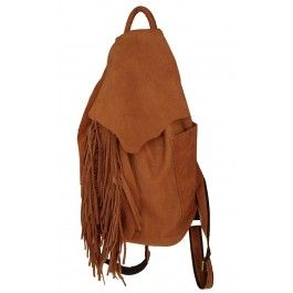 Tan Genuine Leather drawstring top closure Backpack | Free Delivery | Fabhere.com.au