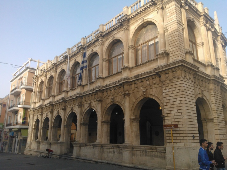 Old building in the center of Heraklion Crete from Roman times
