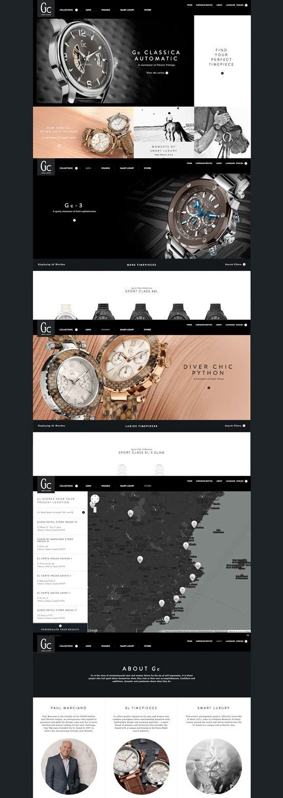 Gc Watches #webdesign #inspiration #UI #Clean #Minimal #Flexible #Responsive Design #CSS3 #HTML5 #Black #Silver