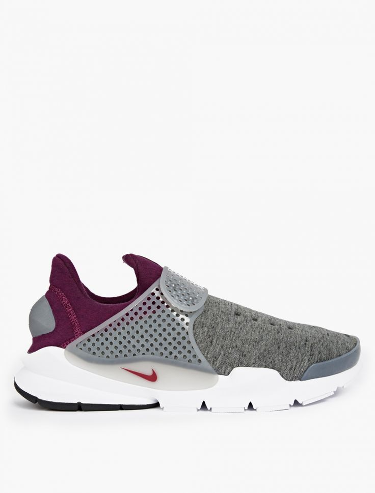 Nike | Grey Sock Dart Tech Fleece Sneakers | Nike present the latest in  their ever