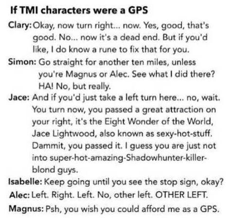 SIMON'S! OH GOD! By the Angel simon.. and the ever do cocky jace or Magnus