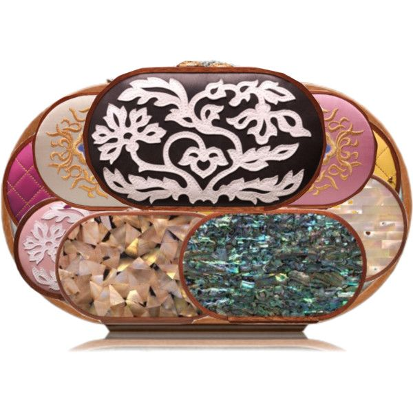 Style these Oval Clutches on Polyvore