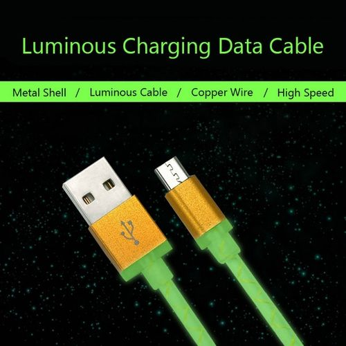 1M Luminous Micro USB 2.0 Universal Data Sync Charging Cable For Samsung S7 S6 Xiaomi Huawei LG - $3.16