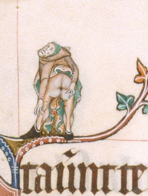 British Library, Add 49622, f. 61r. The Gorleston Psalter. 1310-1324