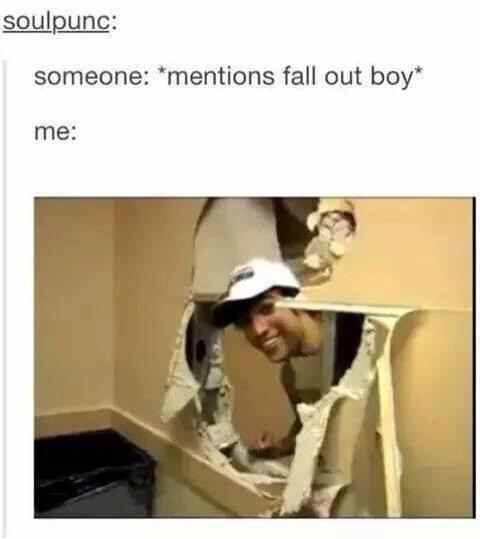 HELLO its me I heard something having to do with the very wonderful band Fall Out Boy what can I assist you with?