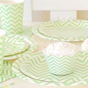 Greenmunch - Paper Cups - 9oz –- Chevron Green, $7.00 (http://www.greenmunch.ca/paper-dinnerware/paper-cups/paper-cups-9oz-chevron-green/)