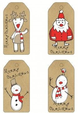 Free Printable Paper Bag Christmas Gift Tags
