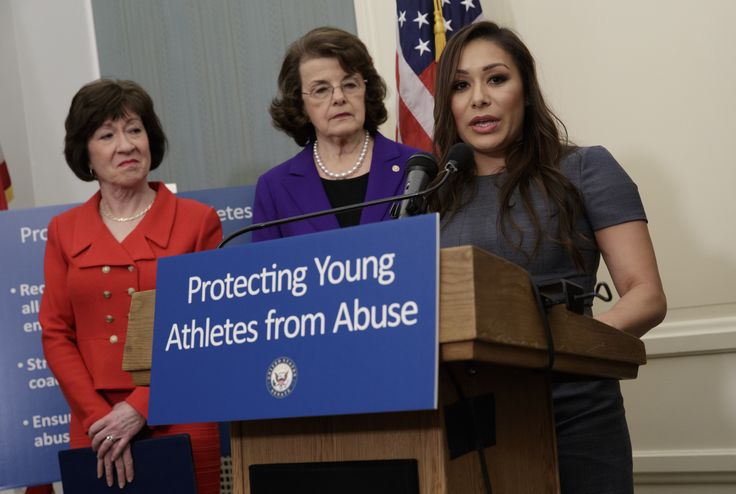 WASHINGTON (AP) — Retired star gymnasts testified before Congress on Tuesday that they were sexually abused by a former USA Gymnastics doctor and recommended a bill that requires tougher sex-abuse reporting for Olympic sports.