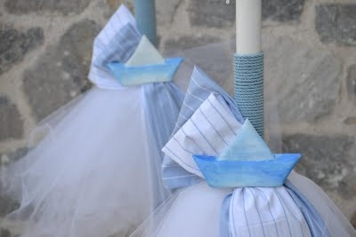 little light blue boats