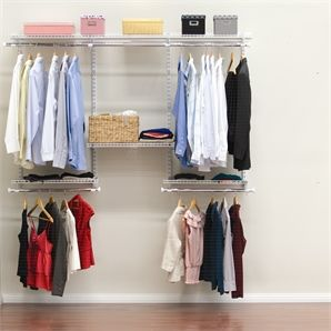 Lovely Clever Closet 1.8m White Wardrobe System   Bunnings Warehouse