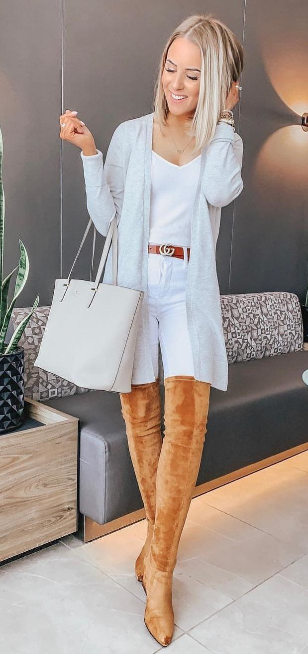 white open cardigan #spring #outfits