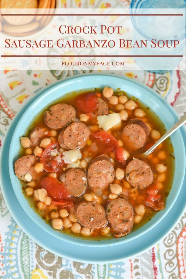 Garbanzo beans are not just for Hummus. They make a delicious Crock Pot Sausage Garbanzo Bean soup! Amp up your fiber intake with this…