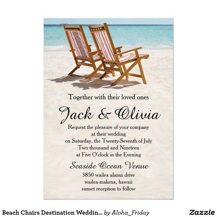 103 best budget beach wedding invitations images on pinterest beach chairs destination wedding invitation stopboris Choice Image