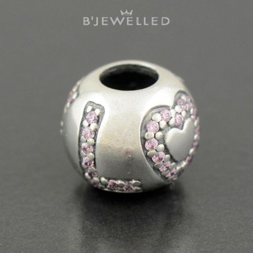 Authentic Genuine Pandora Sterling Silver Surrounded by Love Pink CZ - 791196PCZ