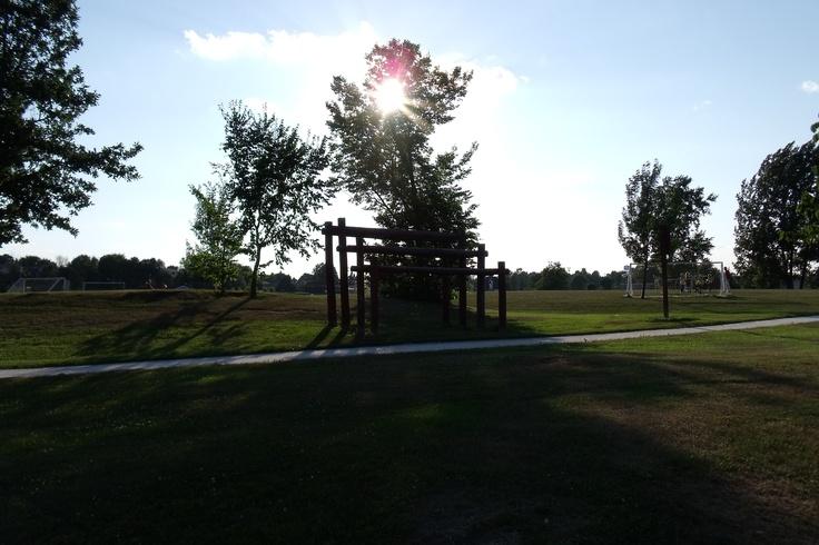 "enjoy the nice romantic Sunset here the ""Sports Park"" . . ."