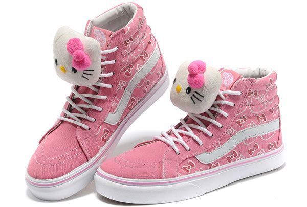 Vans Slim Off the Wall Womens Pink Hello Kitty With Kitty Dolls Sk8 Hi Tops Winter Old Skool Boots [Y13101801] - $39.99 : Vans Shop, Vans Shop in California