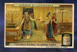 Chromo Liebig S962 Candélabre Lustre Juif Israel Candelabrum Jewish Jew Light