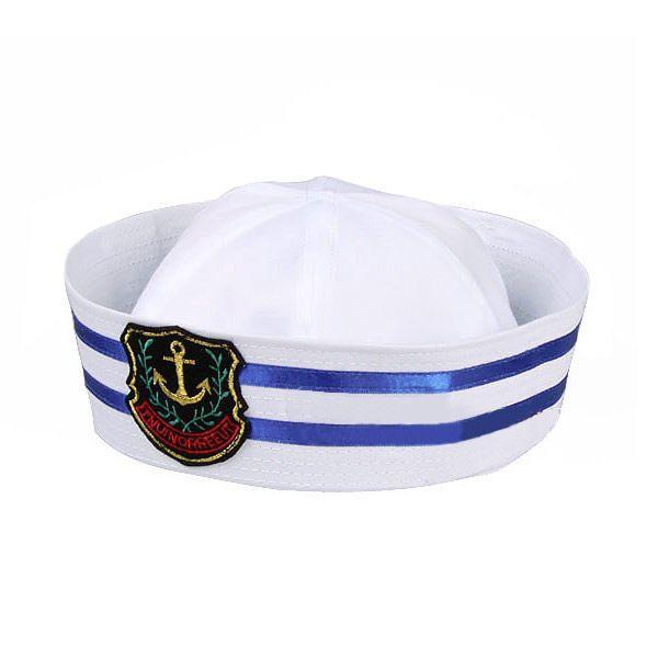 Gorra Capitan Barco Sombrero para Disfraz Marinero Carnaval  2ee060915db