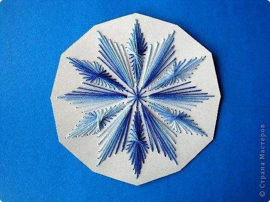 Снежинка изонить-1 мастер класс, поделки