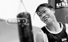 Indian boxer Mary Kom has assured herself at least a bronze medal by reaching the semifinals of women 51kg boxing. Yesterday she opened her campaign on an impressive note as she punched her way into the quarterfinals but the men's hockey team continued its freefall after being thrashed 4-1 by South Korea at the London Olympics.
