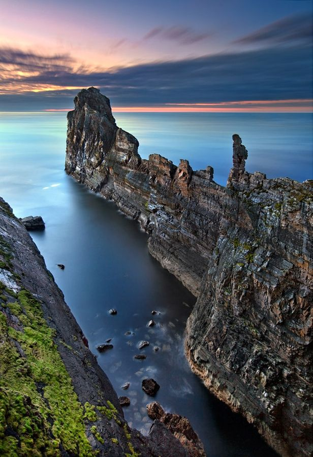 """This huge rock fin of """"The Anvil"""" juts into the sea from Tory Island, off the Donegal coast - Stephen Emerson"""