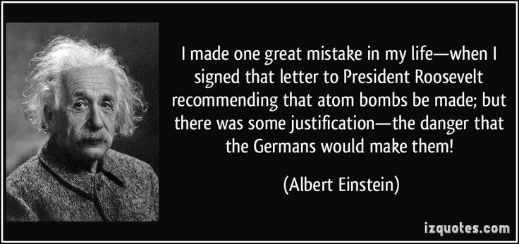 Albert Einstein's Letters To  President Franklin Delano Roosevelt;  https://www.facebook.com/photo.php?fbid=1009227602475379&set=a.976685969062876.1073741847.100001644455845&type=1&theater