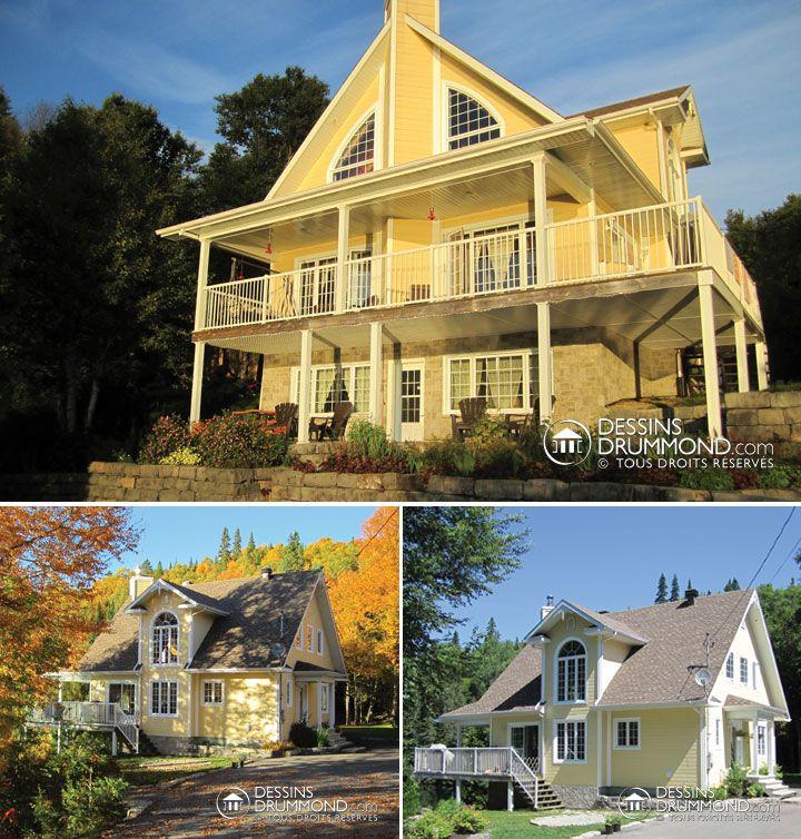plan de chalet 4 saisons avec 4 chambres esapce ouvert vue panoramique et bien plus con u. Black Bedroom Furniture Sets. Home Design Ideas