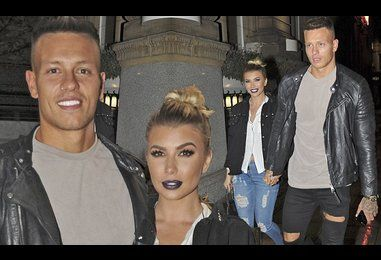 Olivia Buckland and Alex Bowen enjoy romantic dinner date