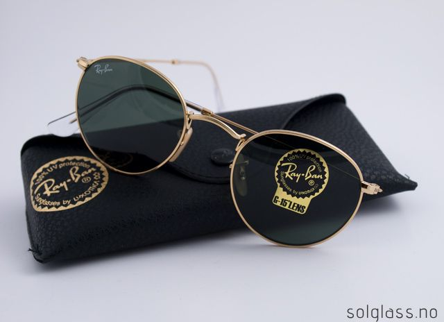 Ray-Ban ROUND METAL RB 3447 / 001 | solglass.no | solbriller, designersolbriller, Carrera, Ray-Ban, Marc Jacobs, Oakley, Gucci