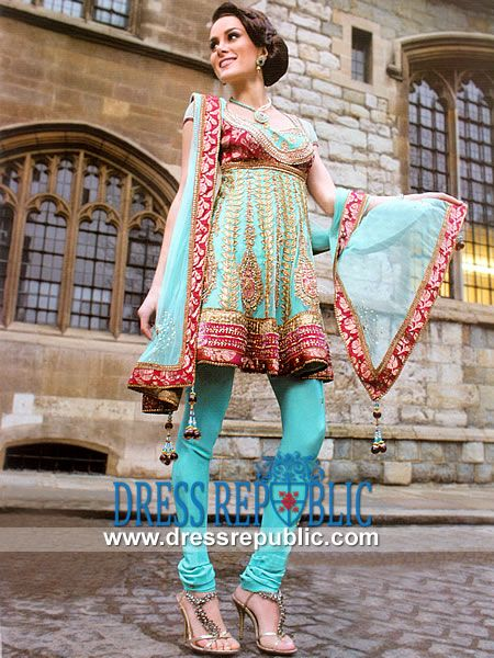 Diwalo Shopping for Women, Diwali Dress, Diwali Anarkali Suit, Deepvali Clothing, Indian Festival, Festival of Light, Anarkali, Churidar Pajamas, Chooridar Pajama, Short Anarkalee Dress, Indian Dress, Indian Salwar Kameez, Divali 2013, Divali Parties, Divali Festival Shopping, Buy Online Diwali Dresses.  Aqua Mist Fradley - DR7660, Party Wear Desi Designer Dress Boutiques in Denver, Colorado by www.dressrepublic.com