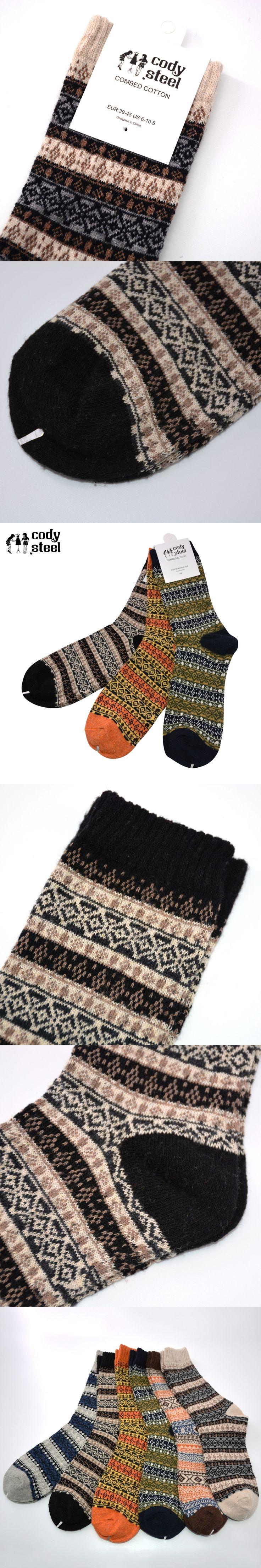 Cody Steel Thickening Socks Man Casual Comfortable Men Wool Socks Absorb Sweat Warm Fashion Socks For Male 3pairs(Fit 39-45)