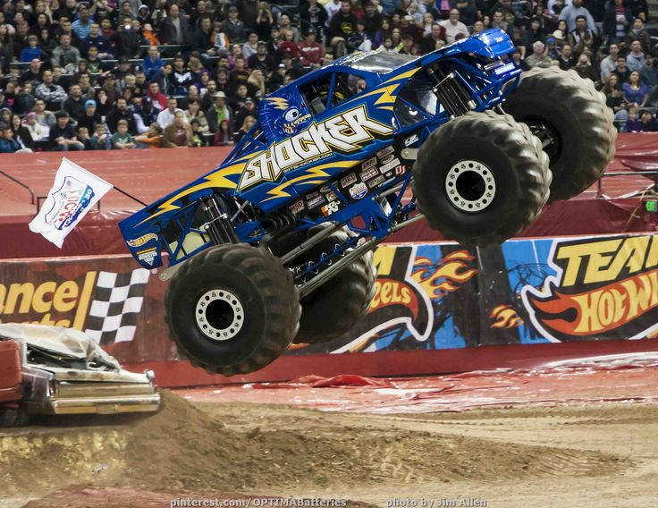 The OPTIMA-sponsored 1,450-horsepower Shocker Monster Truck