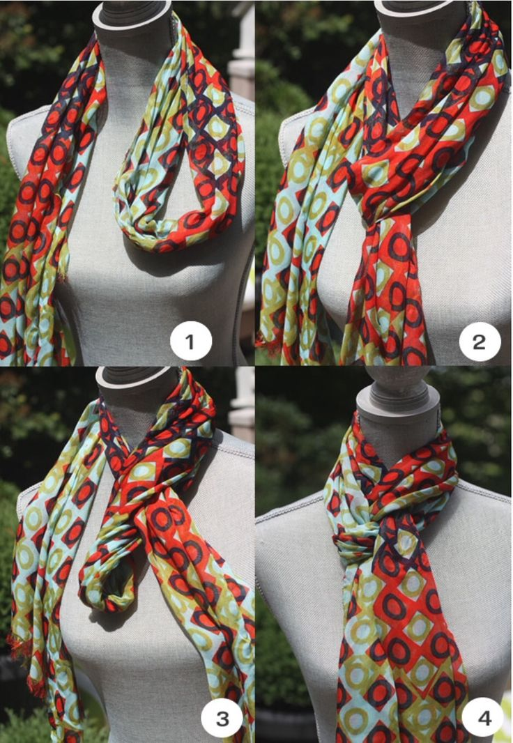 One way to tie a scarf