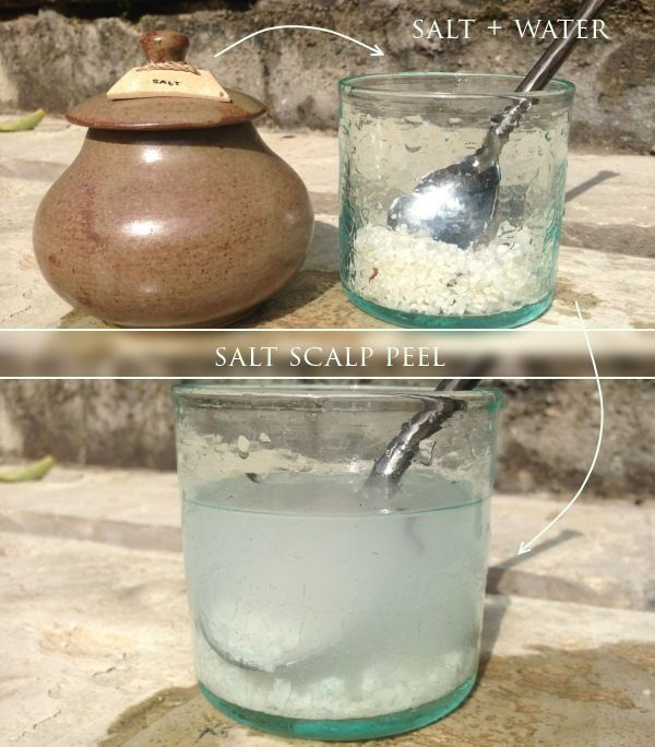 Salt Scalp Peel will not only remove dead skin particles and rest of hair styling products that clog the pores but will also activate blood circulation, remove dandruff, eliminate excess sebum and relieve scalp itching.