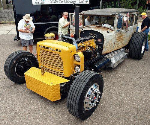 cat rat rod truck caterpillar diesel engine studebaker snappy's | www.dieseltees.com #dieseltees #ratrodtruck