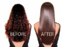 Long Curly Hair Side by Side Before and After Keratin Hair Treatment. Things You Must Know About Keratin Treatments. New keratin hair treatments are starting to show up everywhere with claims of no 'aledhydes', but do your homework wisely. Not all are safe!
